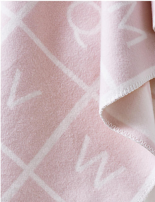 THE LITTLE WHITE COMPANY ABC cotton baby blanket 0+ years