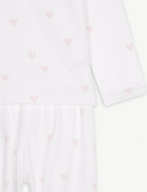 THE LITTLE WHITE COMPANY Heart cotton pyjamas 1-6 years