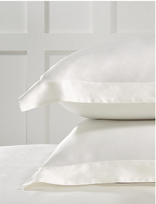 THE WHITE COMPANY: Silk pillowcase 75cm x 50cm