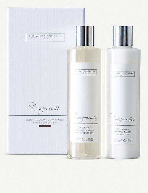 THE WHITE COMPANY Pomegranate Bath & Body Gift Set