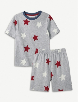 THE LITTLE WHITE COMPANY Star cotton pyjamas 7-12 years