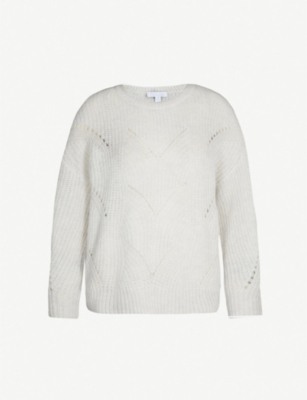THE WHITE COMPANY Pointelle knitted jumper