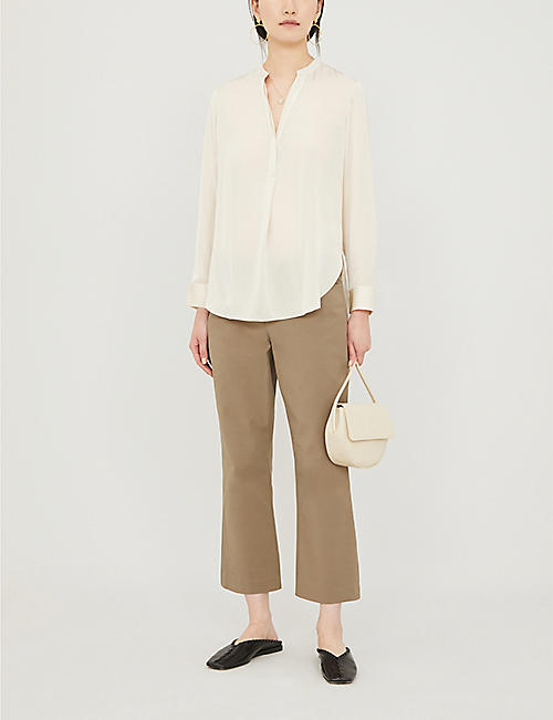 THE WHITE COMPANY Loose-fit satin shirt