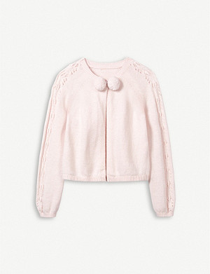 THE LITTLE WHITE COMPANY 庞波姆棉混合 cardigan 1-6 岁