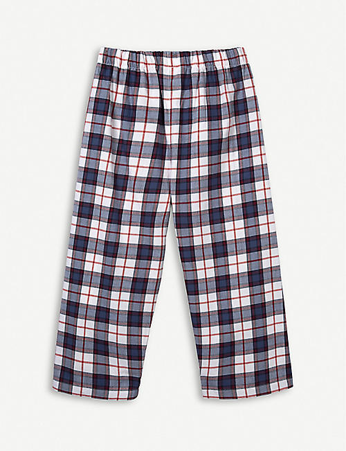 THE LITTLE WHITE COMPANY Check cotton pyjama bottoms 1-12 years