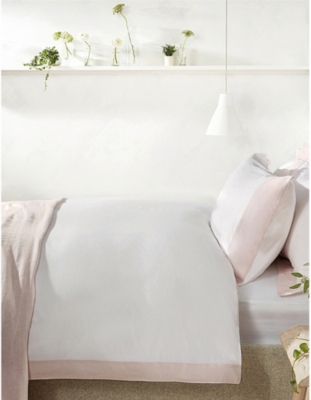 THE WHITE COMPANY Portobello cotton-sateen double duvet cover 200x200cm