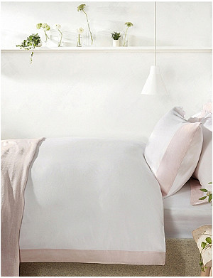 THE WHITE COMPANY Portobello cotton-sateen single duvet cover 140x200cm