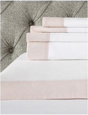 THE WHITE COMPANY Portobello cotton-linen super king flat sheet 275x305cm
