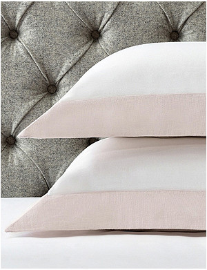 THE WHITE COMPANY Portobello cotton-sateen oxford super king pillowcase 90x50cm
