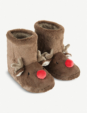 THE LITTLE WHITE COMPANY Reindeer booties