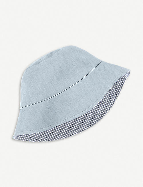 875216d6b0a THE LITTLE WHITE COMPANY Chambray reversible hat 0–24 months