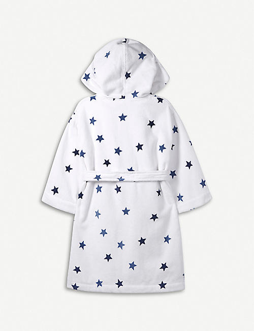 THE LITTLE WHITE COMPANY Star hydrocotton dressing gown 7-12 years