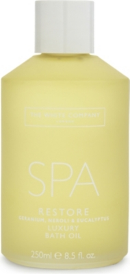 THE WHITE COMPANY Spa Restore luxury bath oil 250ml