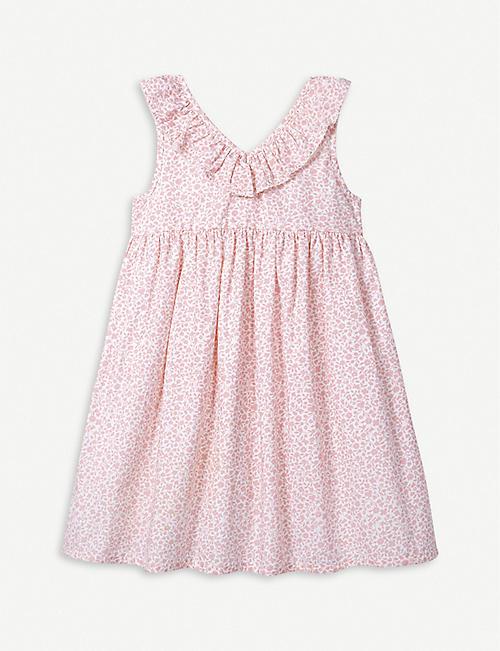 THE LITTLE WHITE COMPANY Floral print ruffle sleeve dress 1-6 years e5ce889ea