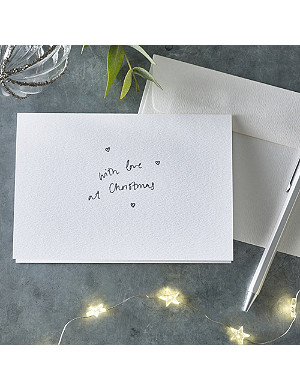 THE WHITE COMPANY With love at Christmas greeting card set of 10
