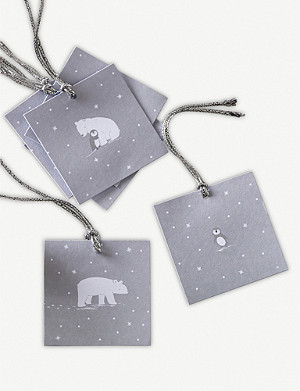 THE WHITE COMPANY Snowy and Lumi Gift Tags Set Of 12