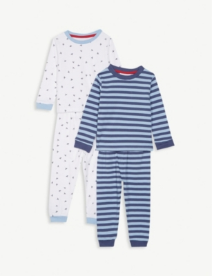 THE LITTLE WHITE COMPANY Set of two cotton pyjamas 1-12 years
