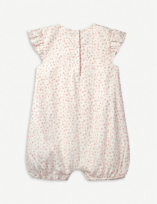 THE LITTLE WHITE COMPANY Strawberry-print cotton romper 0-24 months