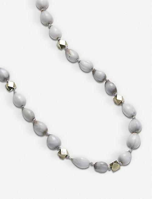 7a757ae53 THE WHITE COMPANY Lotus seed beaded necklace