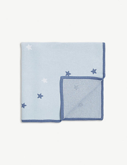 THE LITTLE WHITE COMPANY Star print cotton blanket