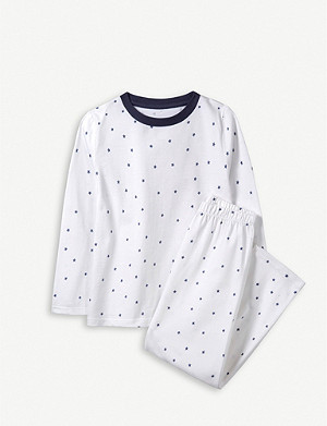 THE LITTLE WHITE COMPANY Scattered Stars cotton pyjamas 1-12 years