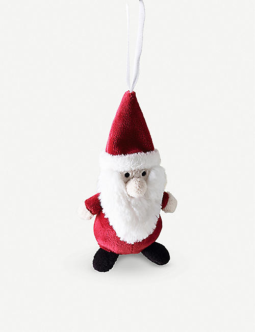 THE LITTLE WHITE COMPANY Santa tree decoration 14cm