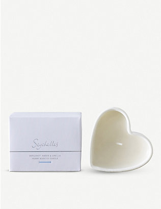 THE WHITE COMPANY: Seychelles Heart candle 110g