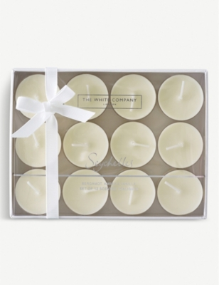 THE WHITE COMPANY Seychelles scented tea lights set of 12