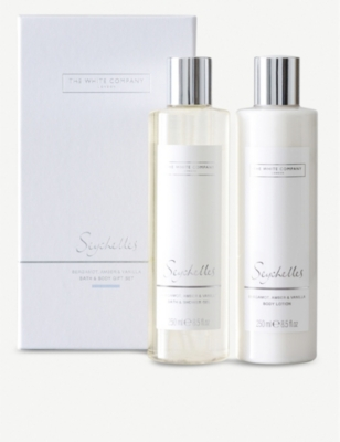 THE WHITE COMPANY Seychelles bath & body set 2 x 250ml
