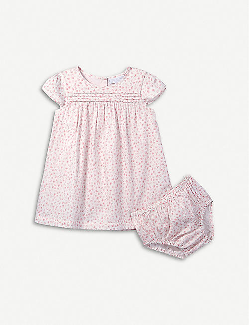 THE LITTLE WHITE COMPANY Strawberry-print flared cotton dress 6-24 months