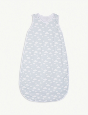 THE LITTLE WHITE COMPANY Cloud print sleeping bag 1.0 tg 0-36 months