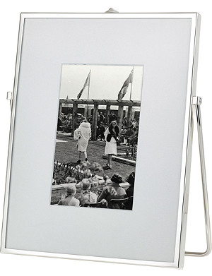 "THE WHITE COMPANY Easel silver-plated photo frame 4""x6"""