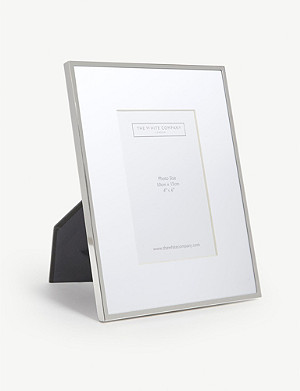 THE WHITE COMPANY Fine silver photo frame 4x6''