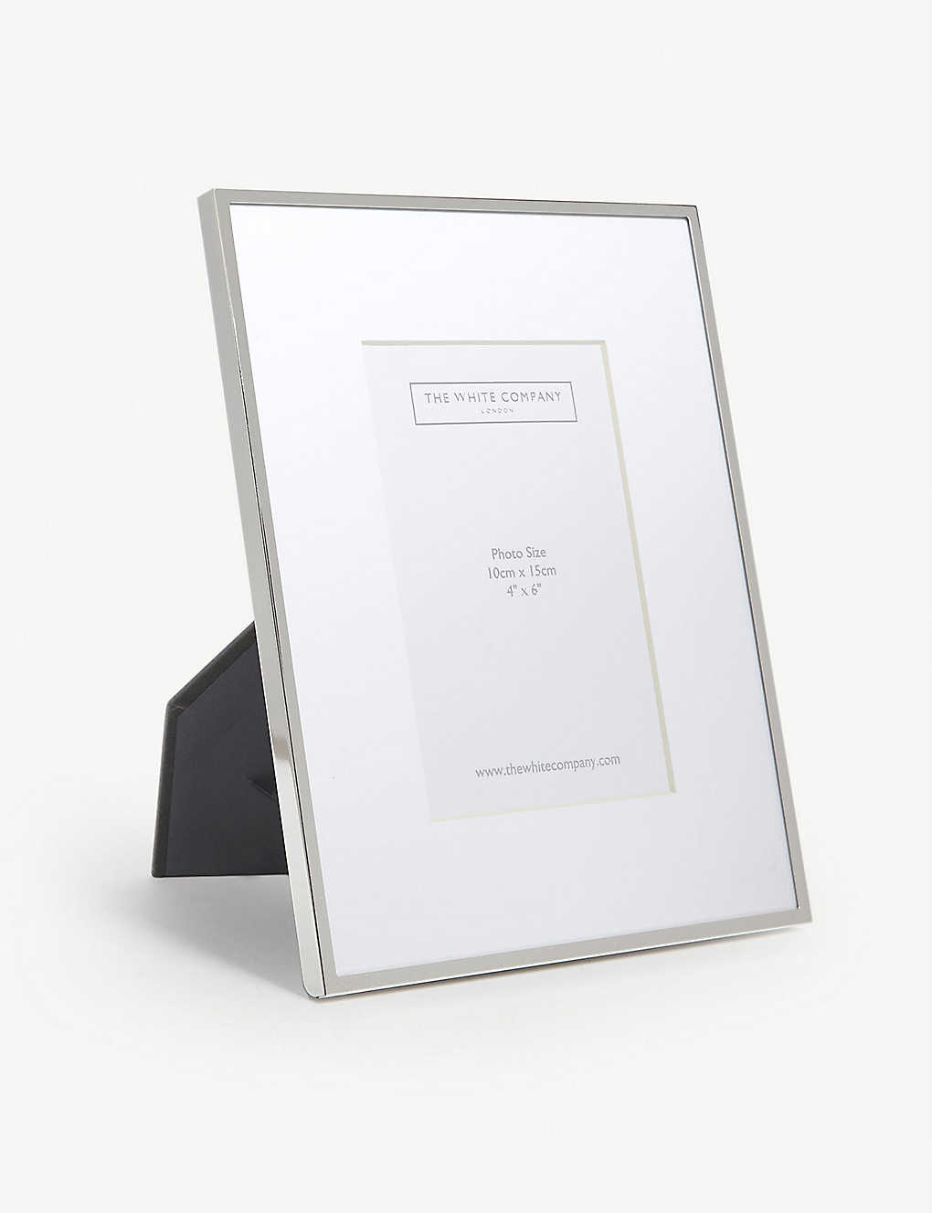 THE WHITE COMPANY: Fine silver photo frame 4x6''