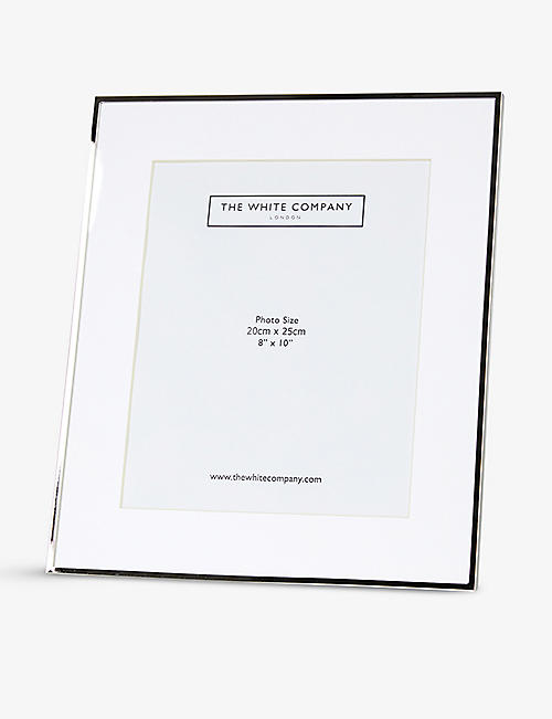 THE WHITE COMPANY: Fine sterling-silver plated frame 8 x 10""