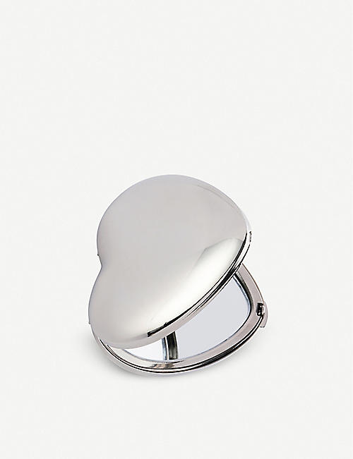THE WHITE COMPANY: Sterling silver-plated heart compact