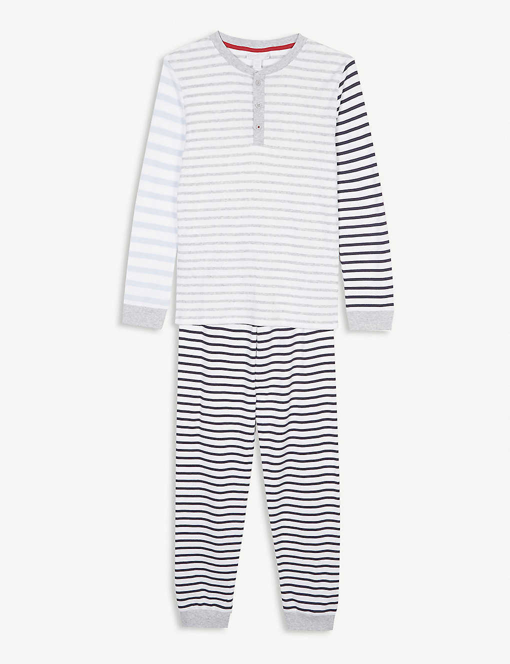 8ba1cdd8 THE LITTLE WHITE COMPANY - Henley striped cotton pyjamas 7-12 years ...