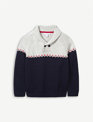 THE LITTLE WHITE COMPANY Fairisle knitted jumper 1-6 years