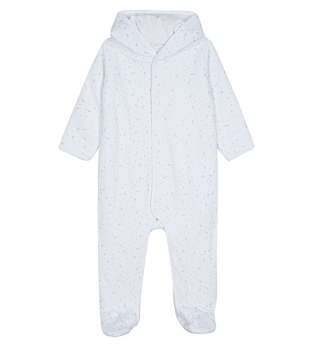 7573fdd288bf8 THE LITTLE WHITE COMPANY - Shooting star cotton-blend baby-grow 0-18 ...