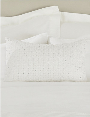 THE WHITE COMPANY Sienna cotton and linen cushion cover 30cm x 50cm