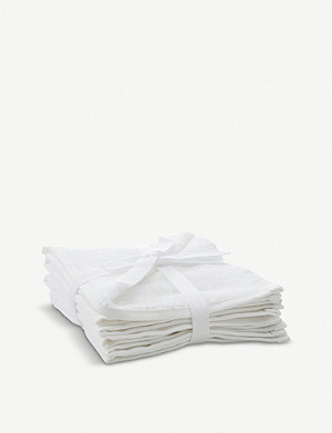 THE WHITE COMPANY Cotton face cloth set of three 30cm x 30cm