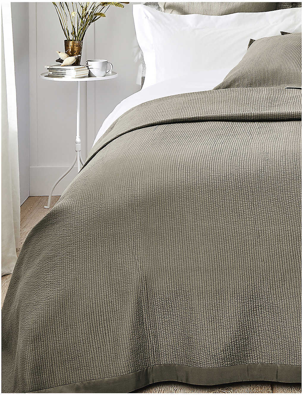 THE WHITE COMPANY: Hampstead cotton and silk duvet cover 215cm x 250cm
