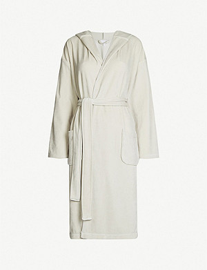 THE WHITE COMPANY Hooded velour robe