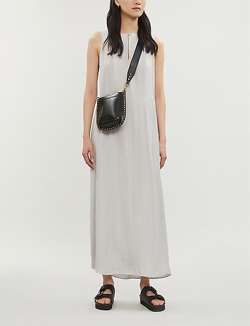 a033243f83 THE WHITE COMPANY Keyhole-slit sleeveless satin maxi dress