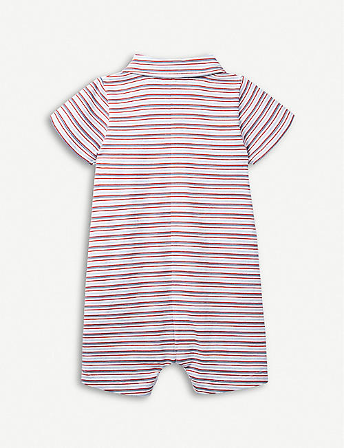 b56170bc69d96 THE LITTLE WHITE COMPANY Striped cotton-jersey shortie 0-24 months
