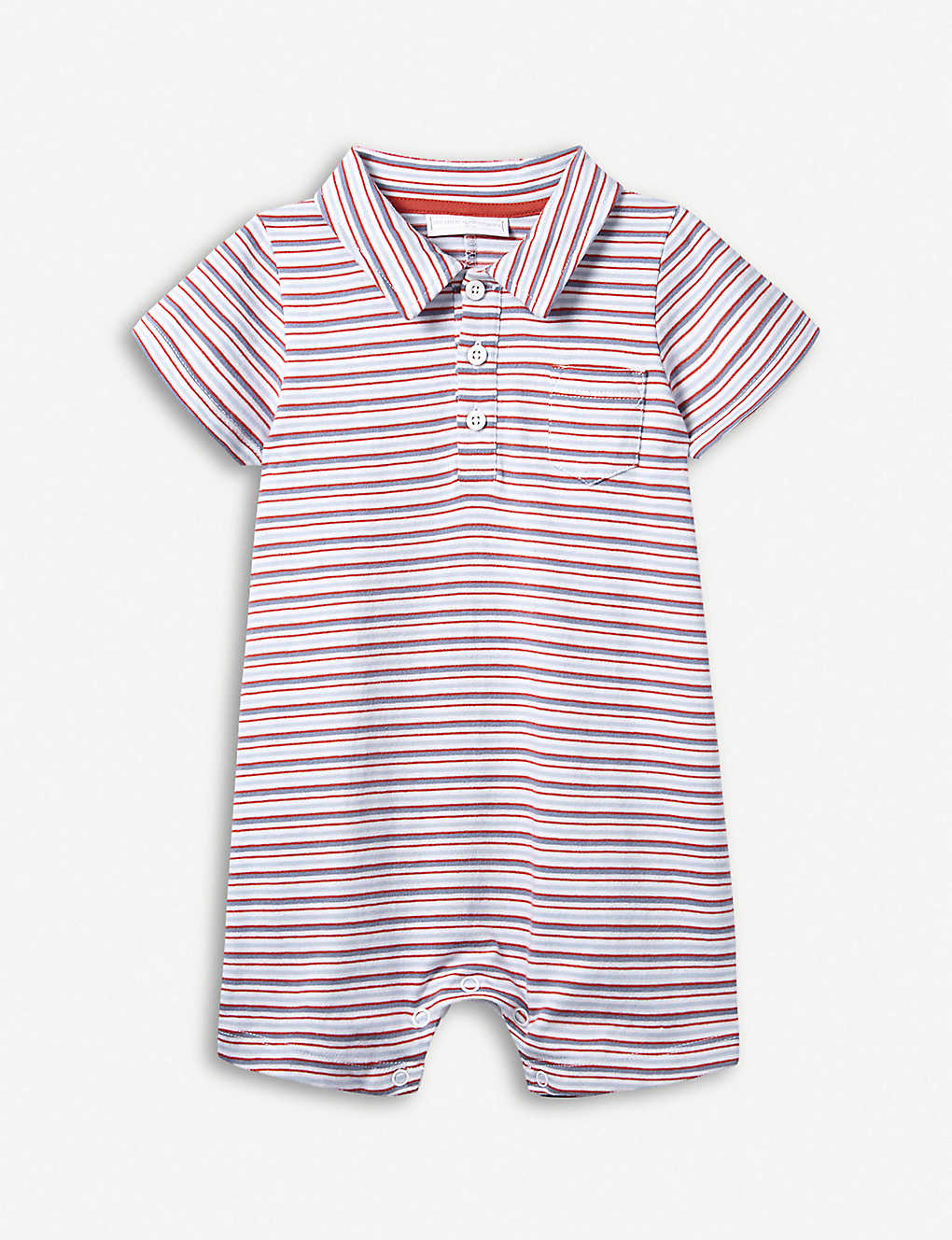 626426424890a THE LITTLE WHITE COMPANY - Striped cotton-jersey shortie 0-24 months ...