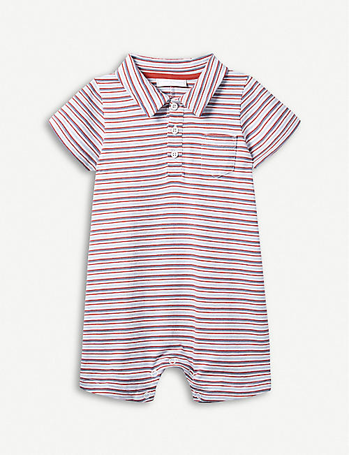 8d09dccd06f THE LITTLE WHITE COMPANY Striped cotton-jersey shortie 0-24 months
