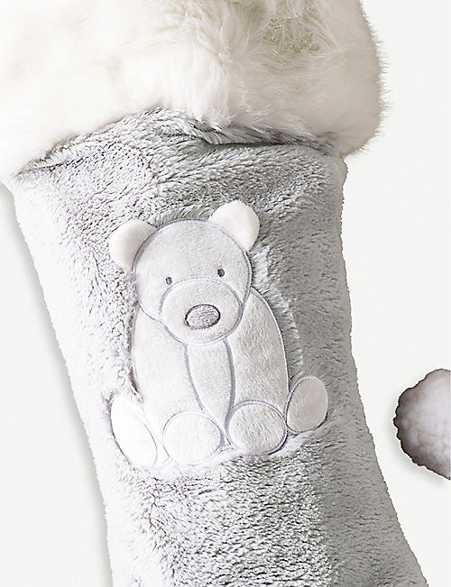 THE LITTLE WHITE COMPANY Lumi faux-fur stocking