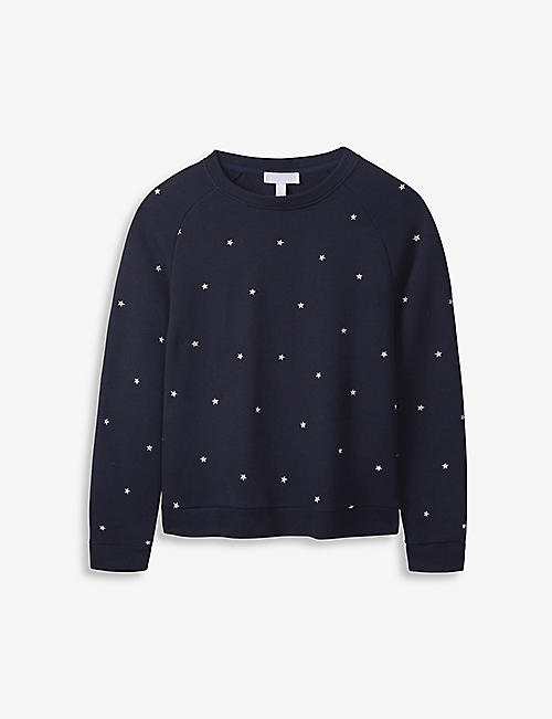 THE WHITE COMPANY: Star-embroidered cotton jumper