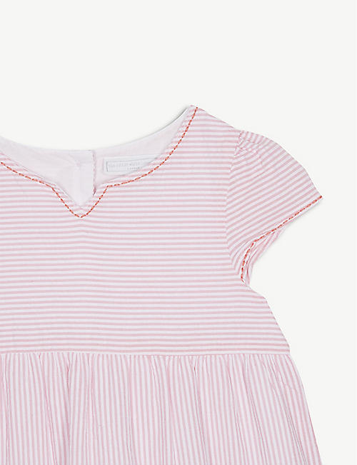 THE LITTLE WHITE COMPANY Striped tier cotton dress 1-6 years